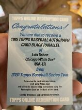 2020 Topps Series 2 Luis Robert RC 1985 Black Parallel /99 Auto Redemption
