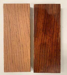 2 Confezione, Bubinga Knifemakers Fornire: Legno Naturale Libro Matched 1cm X