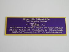 Shaquille O'Neal Nameplate Los Angeles Lakers Autograph Photo Ball Jersey