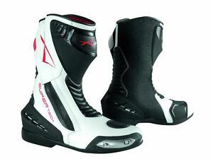 Paddock Motorcycle Motobike Sport Boots Racing Track Performance Evo White 41