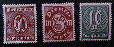 Deutsches Reich Dienst Mi 66-68 (*) ohne Gummi , Wertziffer