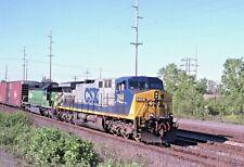 ORIGINAL KODACHROME RAILROAD 4 PACK SPECIAL CSX BLASDELL, NY  MAY 2001