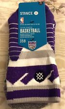 Stance Fusion NBA Basketball On Court Quarter Socks Sacramento Kings L Large DS