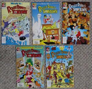 ROGER RABBIT'S TOONTOWN (DISNEY Comics 1991) Gertie JESSICA Set #1-5 VF