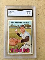 1967 TOPPS BILL FREEHAN CARD #48 - GRADED 6.5 EXCELLENT - NEAR MINT
