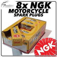 8x Ngk Bujías para KAWASAKI 1100cc ZR1100 a1-a4 (Zephyr) 92- > 95 no.6263