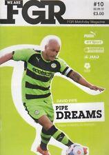 Forest Green Football Non-League Fixture Programmes (2000s)
