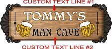 "Garage Man Cave Bar Sign Personalized Graphics Decal Vinyl Stickers  25"" x 11"""