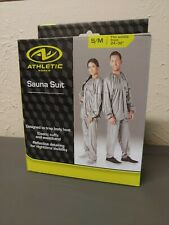 "Athletic Adult Sauna Suit GRAY S/M Fits Waist Sizes 24"" - 32"" PANTS ONLY !!!!!"