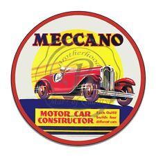 Meccano Toy Motor Car Construction Kit Reproduction Circle Aluminum Sign