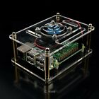 Transparent Clear Case Enclosure Box + Cooling Fan for Raspberry Pi 3/2 Model B