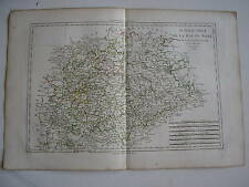 CARTE de la HAUTE SAXE sud par BONNE carte ancienne 1788 thuringe anhalt misnie