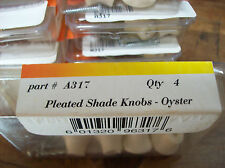 RV Designer A317 Pleated Shade Knobs/Oyster color  4Pk
