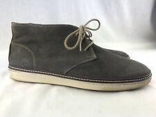 Johnston & Murphy Men's 10.5 Gray Suede Ankle Boots Chukka McGuffey Lace CASUAL