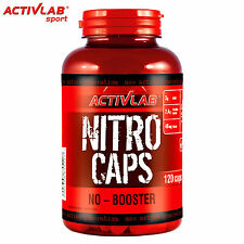 NITRO CAPS 120Caps Pre-Workout Booster Nitric Oxide L-Arginine Citrulline Malate
