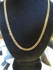 "14KT TWO TONE GOLD 20"" X 4.7MM 16.6 GRAM FLAT CURB LINK CHAIN LOBSTER CLAW CLASP"