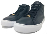 True Religion Mens Black Leather High Top Sneakers Size 13