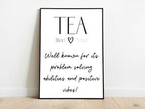 Tea Kitchen Positive Affirmation Wall Print A3/A4/A5 Posters Gift Idea