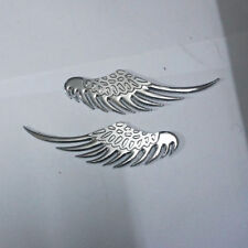 2x Chrome Wing Metal Emblem Badge Sticker Car pickup Logo Design suv Motors Auto