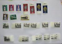 Lot mit 21 Stück Briefmarken; Bundesrepublik ungestempelt Berlin, etc