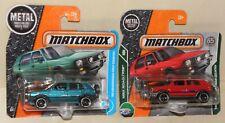 2 x Matchbox '90 1990 VOLKSWAGEN VW GOLF COUNTRY grün + rot beide Faben MBX  NEU