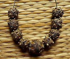 Perles Argent Ancien Afrique Antique Mauritanian Gold Wash Silver Wedding Beads