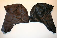 WWI British Air Force Pilot's Leather Flying Helmet repoduction