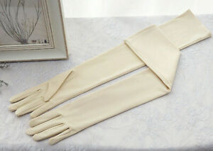 Champagne Spandex Long Fingered Bridal Wedding/Prom/Opera/Occasion Evening Glove