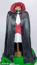 Cape Vampire Poly Satin Lined Cape Vest & Bow Tie Men's Costume Kit