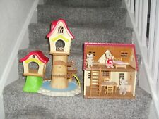 Sylvanian Families Job Lot Red Roof House Tree House Figures Furniture Cups +++