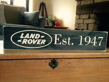 Land Rover Sign Car Vintage Old Look Garage Gift Plaque Wood Hand Made