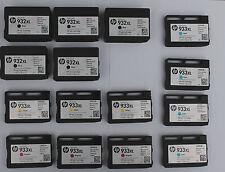 15 x GENUINE HP EMPTY INK CARTRIDGES! ~ 932XXL /  933 VARIOUS COLOURS