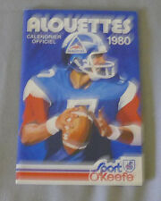 Original  CFL  Montreal Alouettes 1980 Official O'Keefe Football Schedule