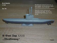 "Sous-marin type XXIII ""solution idéale"" 1/144 Bird Models mischkit/Mixed resin kit"