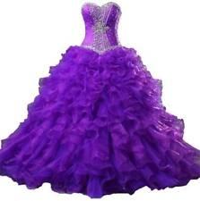 Purple Sweetheart Wedding Dress Beading Ball Gown Orgamza Bridal Gowns Custom