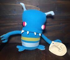 OOAK Blue Monster Soft Stuffed Doll made by Jennifer Strunge of Cotton Monster