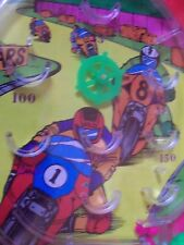 """Vintage Famus Corp Racing Bikes Pinball Game Dimestore Toy 10"""" x 6""""  NOS"""