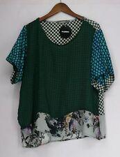 Silk Short Sleeve Regular Size Tops & Shirts for Women