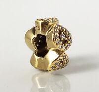 Genuine Pandora Cascading Glamour Silver Charm 18K Gold Plated 796270CZ