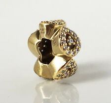 Genuine Pandora Cascading Glamour Silver Charm 14K Gold Plated 796270CZ