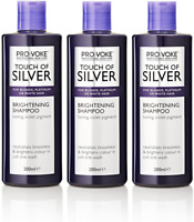 3x Provoke Touch Of Silver Brightening Shampoo Grey, White Blonde Hair 200ml