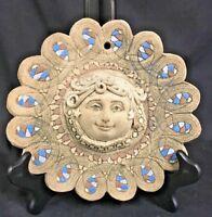 Vintage Signed Studio Pottery Goddess Plaque