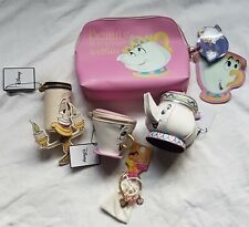 Disney Beauty & la Bestia Set 6 Pezzi Borsa Borsetta Chip TAZZA Bracciale Wash Bag fare