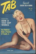 Tab Pocket Picture Cheesecake Pin Up Magazine December 1958 Donna Long 091218AME