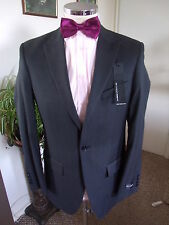 "M&S Autograph Men's Black Self Stripe Suit Jacket C38"" Reg W/Blend rrp £120 BNWT"