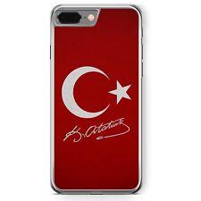 iPhone 8 Plus - Hard Case Hülle Türkei + AtatürkMotiv Design Türkiye Türkisch S