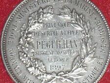 Coll.J.DOMARD SPORT RARA MEDAGLIA ARGENTO SCHERMA SPADA 1897 Dipartimento MARINA