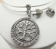NEW SWEET ROMANCE TREE OF LIFE, SWALLOW BIRD & HEART BRACELET ~~MADE IN USA~~