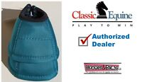 Classic Equine DYNOHYDE 2520D DESIGNER No Turn Bell Boots Teal Horse