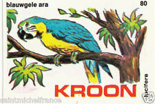 Ara bleu Ara ararauna - Blue-and-yellow Macaw MATCHBOX LABEL CARD IMAGE 1973